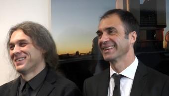 Emiliano Diolati e Paolo Ciliegi, rispettivamente Principal Investigator e Project Manager INAF del progetto MAORY. Crediti: Media INAF