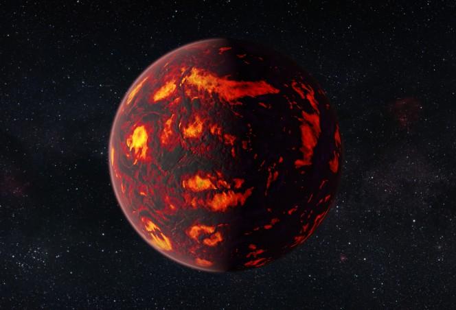 Un close-up del pianeta 55 Cancri e. Crediti: ESA/Hubble, M. Kornmesser