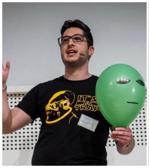 Luca Perri alle selezioni di Famelab