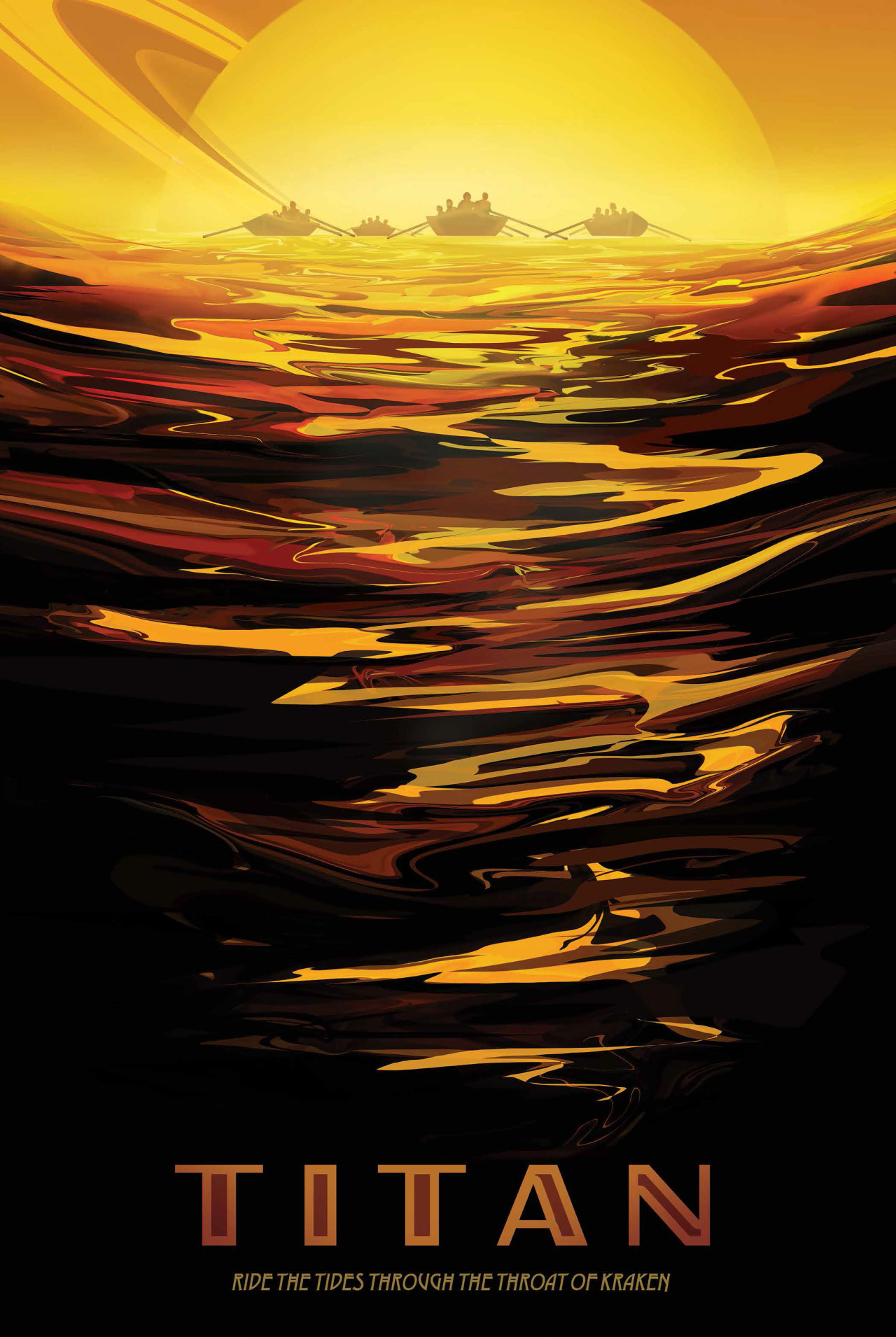 TITANO, UNA GIOVANE TERRA.Volete farvi un'idea di come fosse il pianeta Terra qualche miliardo di anni fa? Le fredde steppe aliene di Titano potrebbero fare al caso vostro. La più grande delle lune di Saturno ha una spessa atmosfera e la sua superficie è disseminata di fiumi e laghi di etano liquido e metano. Crediti: NASA