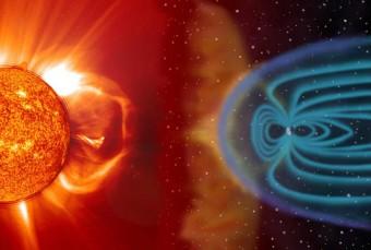 Rappresentazione artistica di un'espulsione di massa coronale da parte del Sole. Crediti: NASA/ESA