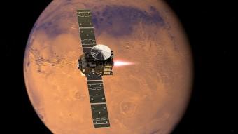 ExoMars entra nell'orbita di Marte. Rappresentazione artistica. Crediti: ESA/ATG medialab