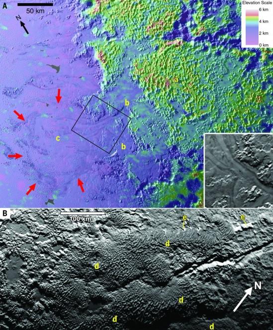 I ghiacciai su Plutone.