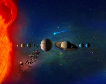 Il Sistema solare contiene sia corpi grandi che piccoli. Nel nuovo studio della Duke University si propone una nuova spiegazione di fisica generale sul perché esista questa diversità in dimensioni. Crediti: NASA