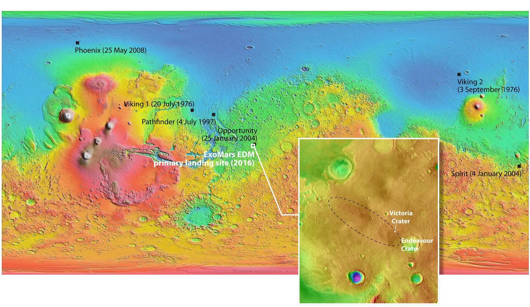 Il sito Meridiani Planum