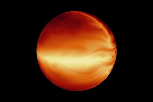 Rappresentazione artistica dell'esopianeta HD 80606 b, che spicca in mezzo alle centinaia di pianeti extrasolari scoperti di recente. Questo perché la sua orbita è fortemente eccentrica. I ricercatori hanno studiato come varia la temperatura del pianeta man mano che si avvicina e si allontana dalla sua stella madre. Crediti: JPL