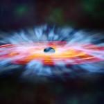 Rappresentazione artistica di venti attorno un buco nero. Una parte del gas che li forma cade a spirale verso l'interno, ma un'altra parte è spinta verso l'esterno. Crediti: NASA e M. Weiss (Chandra X-ray Center)