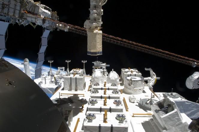 Il modulo giapponese KIBO, sulla Stazione Spaziale Internazionale. Crediti: Wikicommons.