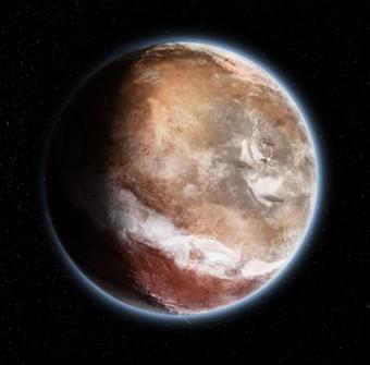 Il volto giovanile di Marte secondo la nuova teoria. Crediti: Didier Florentz, CNRS