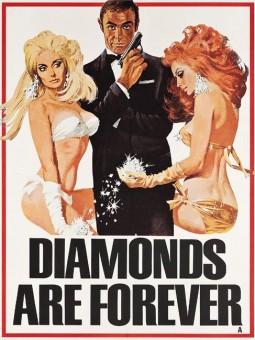 La locandina di Agente 007 - Una cascata di diamanti.