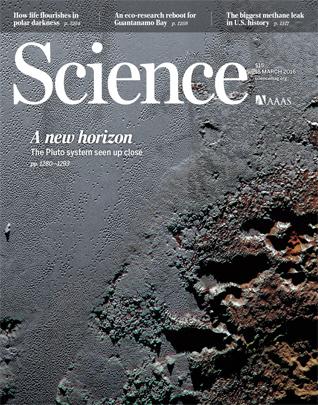 La copertina dell'ultimo numero di Science