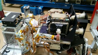 Lo strumento SIMBIO-SYS. Crediti: Finmeccanica/ASI
