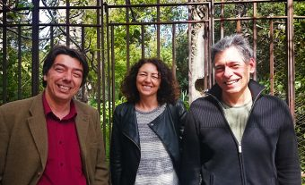 I tre autori dello studio. Da sinistra a destra: Rosario Iaria, Tiziana di Salvo e Luciano Burderi