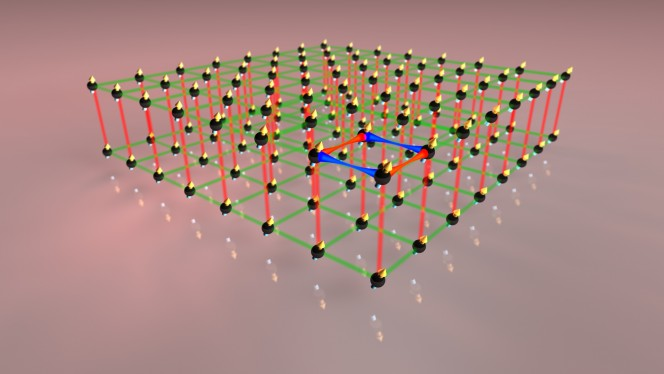 Utilizzando un campo magnetico il gruppo di ricerca di Innsbruck ha modificato in modo diretto l'orientamento dei mini magneti, arrivando a controllare con precisione l'interazione fra le particelle del sistema. Crediti: Erbium team / Simon Baier.