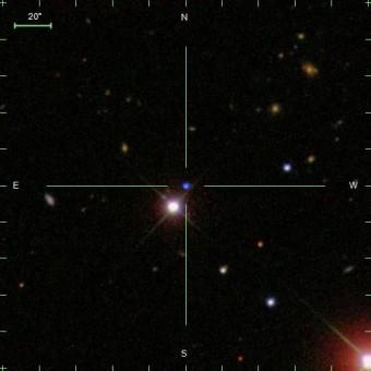 Un'immagine di SDSS J124043.01+671034.68. Crediti: S. O. Kepler
