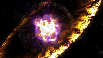 Rappresentazione artistica di una supernova. Crediti: Greg Stewart, SLAC National Accelerator Lab