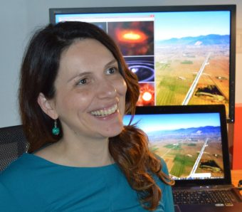 La ricercatrice Marica Branchesi (Univ. Urbino/INFN/INAF)