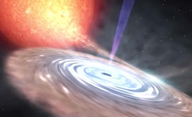 Il disco di accrescimento del buco nero V404 Cygni. Crediti: Gabriel Pérez, SMM (IAC)