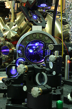 L'orologio a reticolo d'atomi di stronzio del PTB. Crediti: PTB