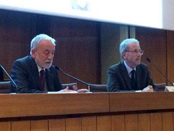 Da sinistra: Nicolò D'Amico (presidente INAF) e Roberto Buonanno (presidente SAIt). Crediti: Media INAF