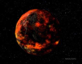 La Luna contiene piccole ma significative quantità di acqua. I campioni prelevati dagli astronauti delle missioni Apollo suggeriscono che all'interno della Luna vi siano da 10 a 300 parti per un milione di acqua. Un team di scienziati ha pubblicato un articolo su Nature Communications mostrando che la fonte di questa acqua sembrano essere gli asteroidi. Questo studio potrebbe fornire nuovi indizi su come si è formato il sistema solare, come è cresciuta la Luna e come si è svolto il bombardamento da parte di piccoli oggetti e frammenti nelle prime fasi di vita dei nostri dintorni planetari. Crediti: LPI/David A. Kring