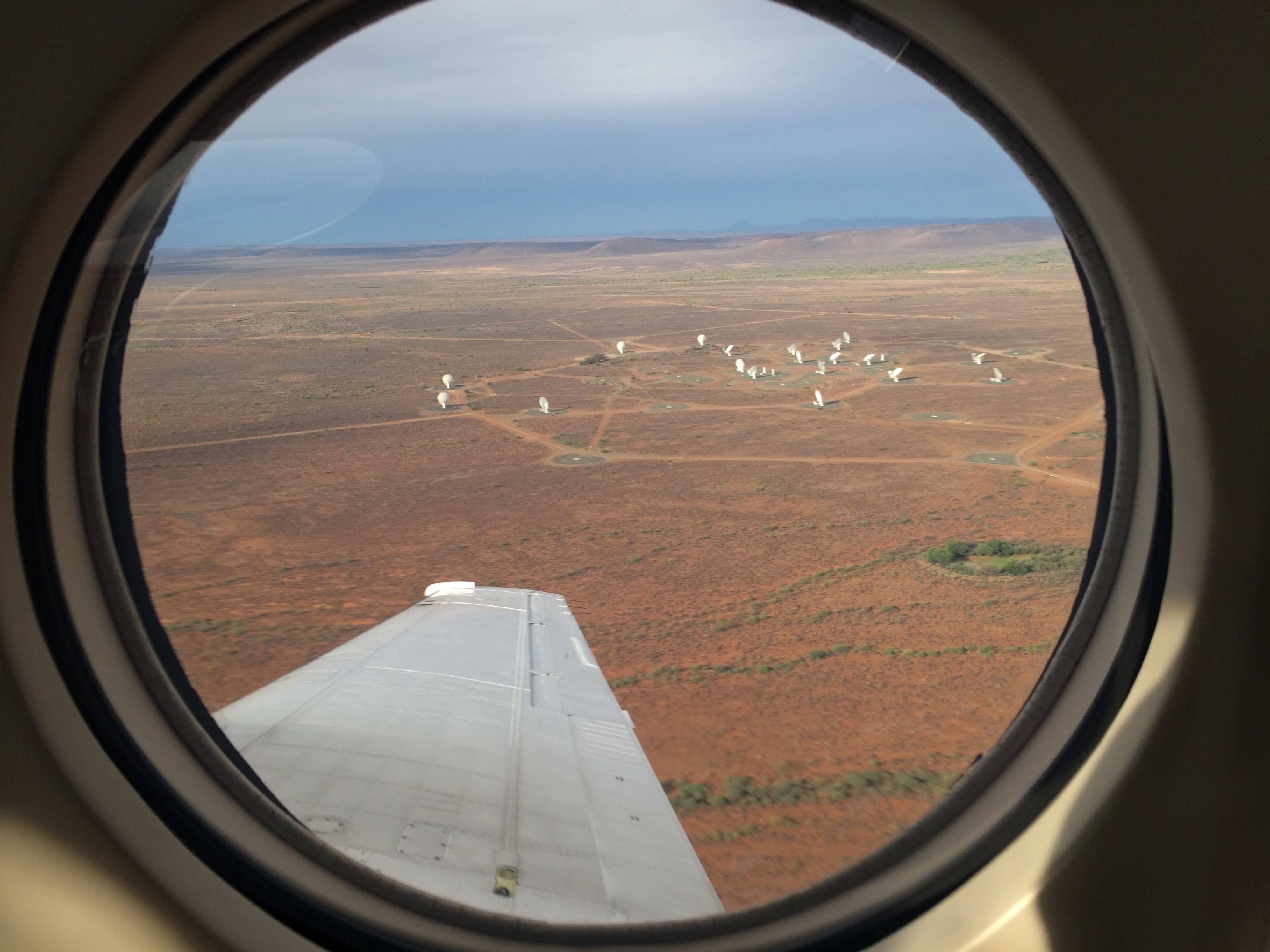 Le 19 antenne MeerKAT attualmente pronte in Sudafrica. Crediti: SKA Sudafrica