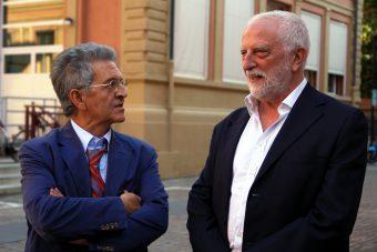 Gli astrofisici Filippo Frontera (a sinistra) ed Enrico Costa (a destra). Crediti: Media INAF