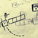 I primi schizzi del cartoon dedicato a Rosetta realizzati da Carlo Palazzari.