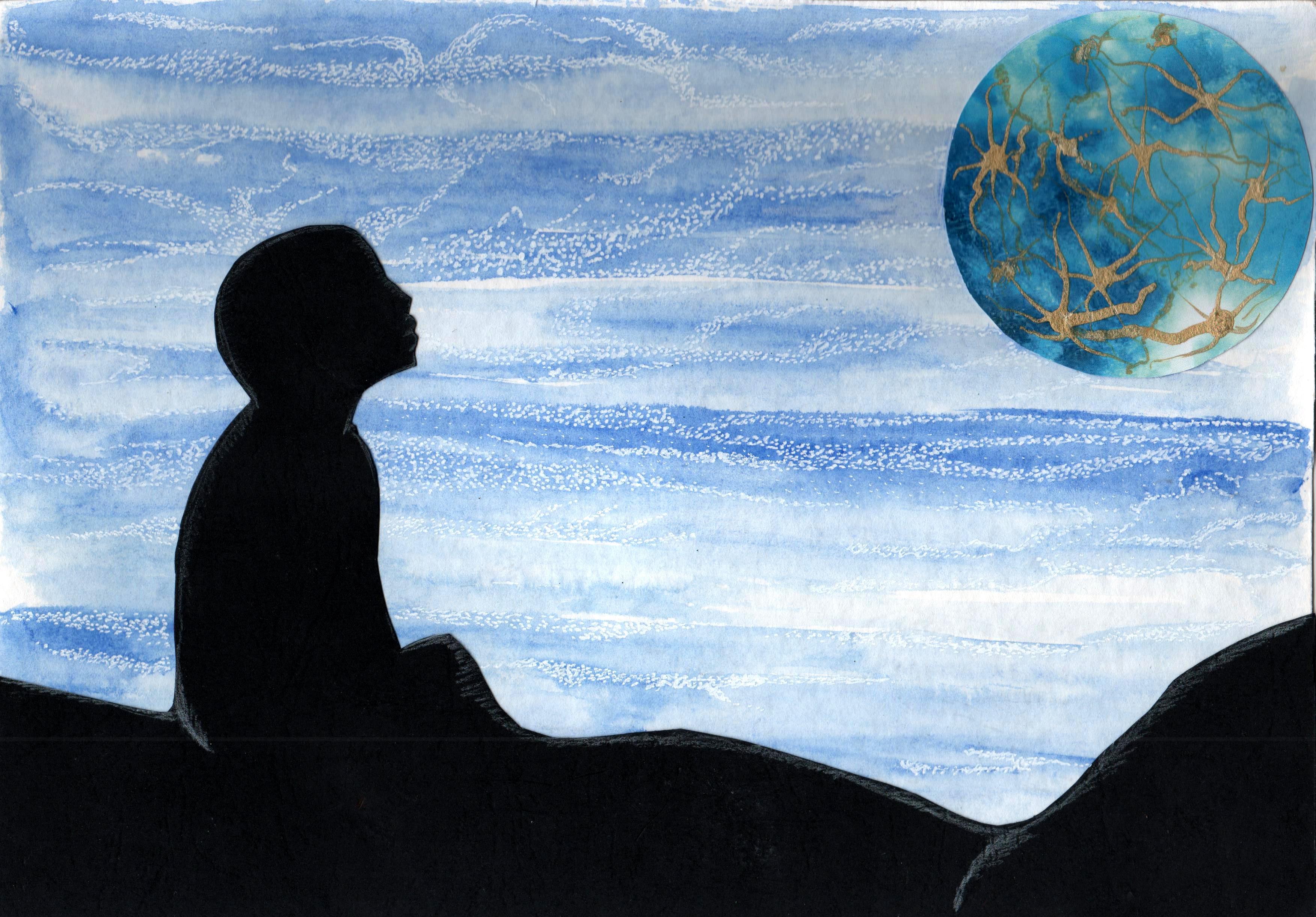 """""""Guardando il cielo"""", di Alessio (8 anni)"""