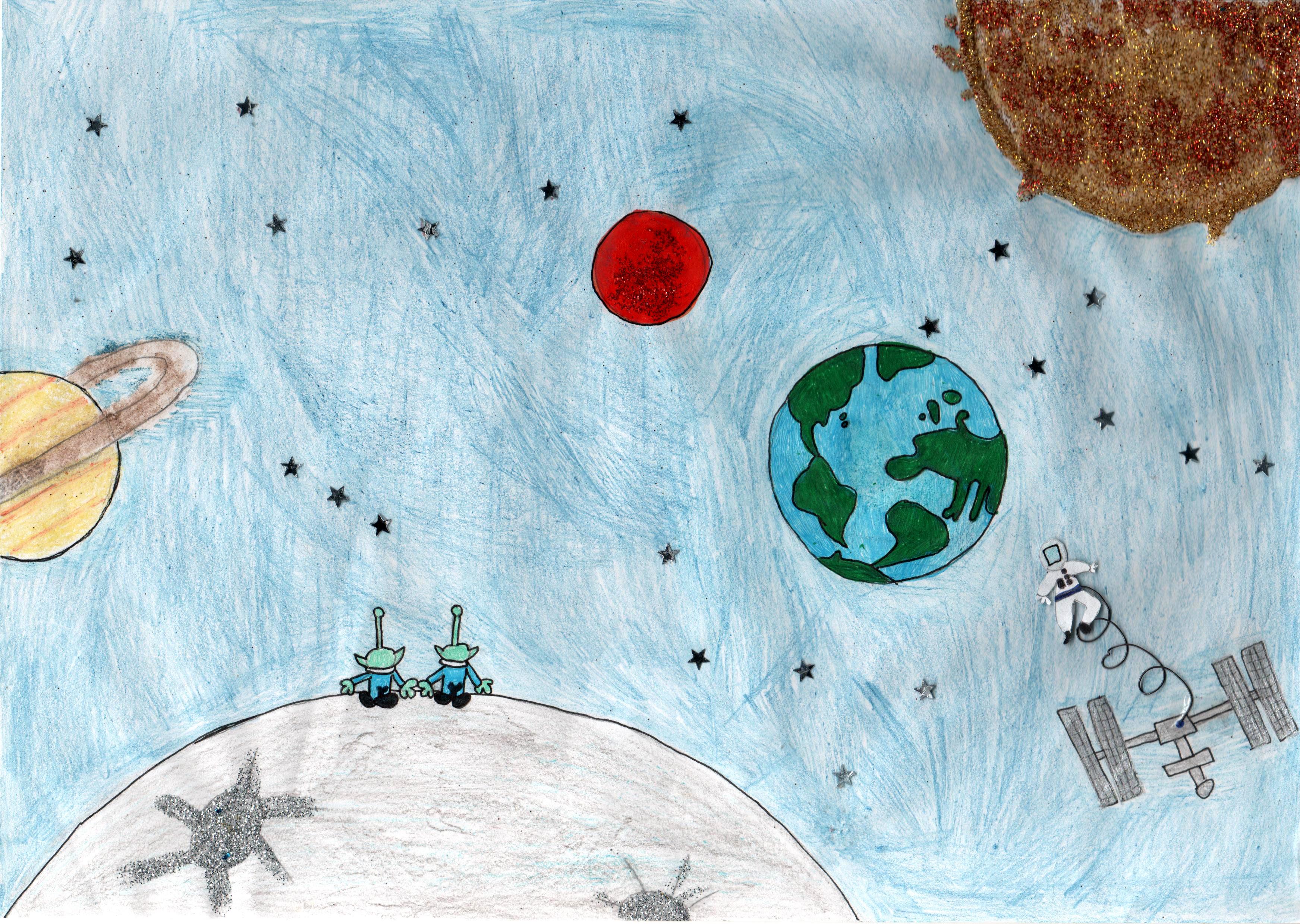 """""""Lo spazio parlante"""", di Larissa (8 anni)"""