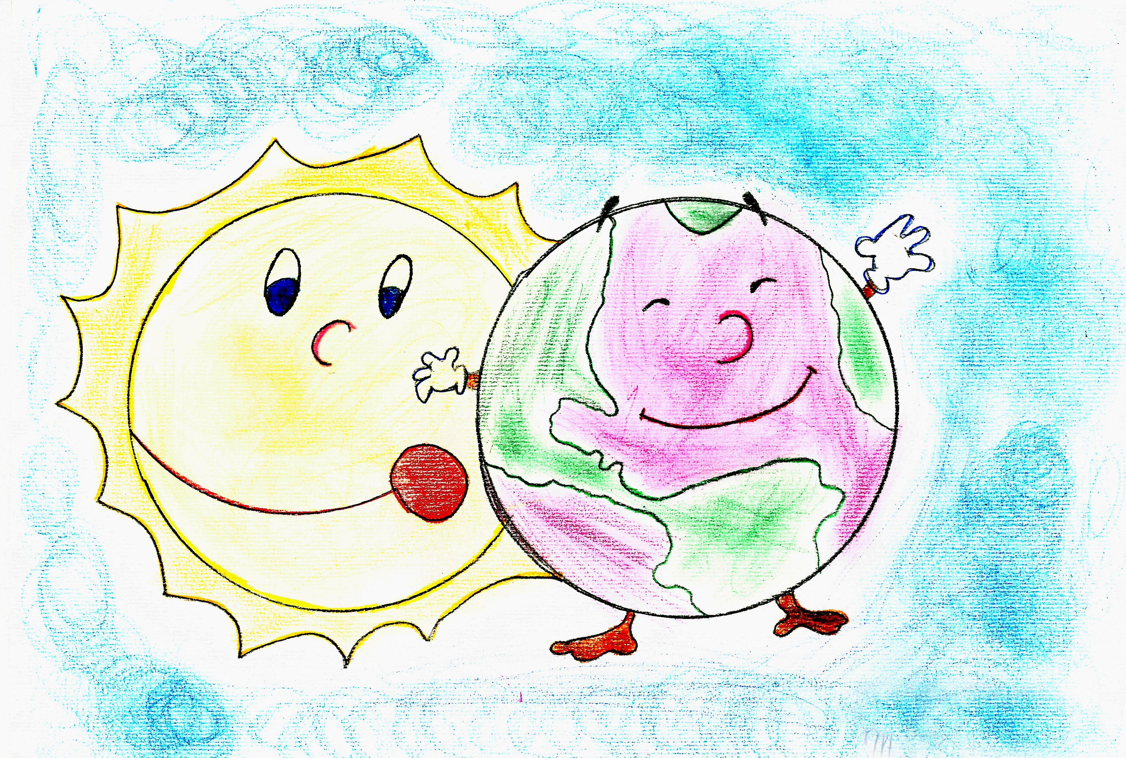""""""" Il pianeta Terra"""", di Marzia (7 anni)"""