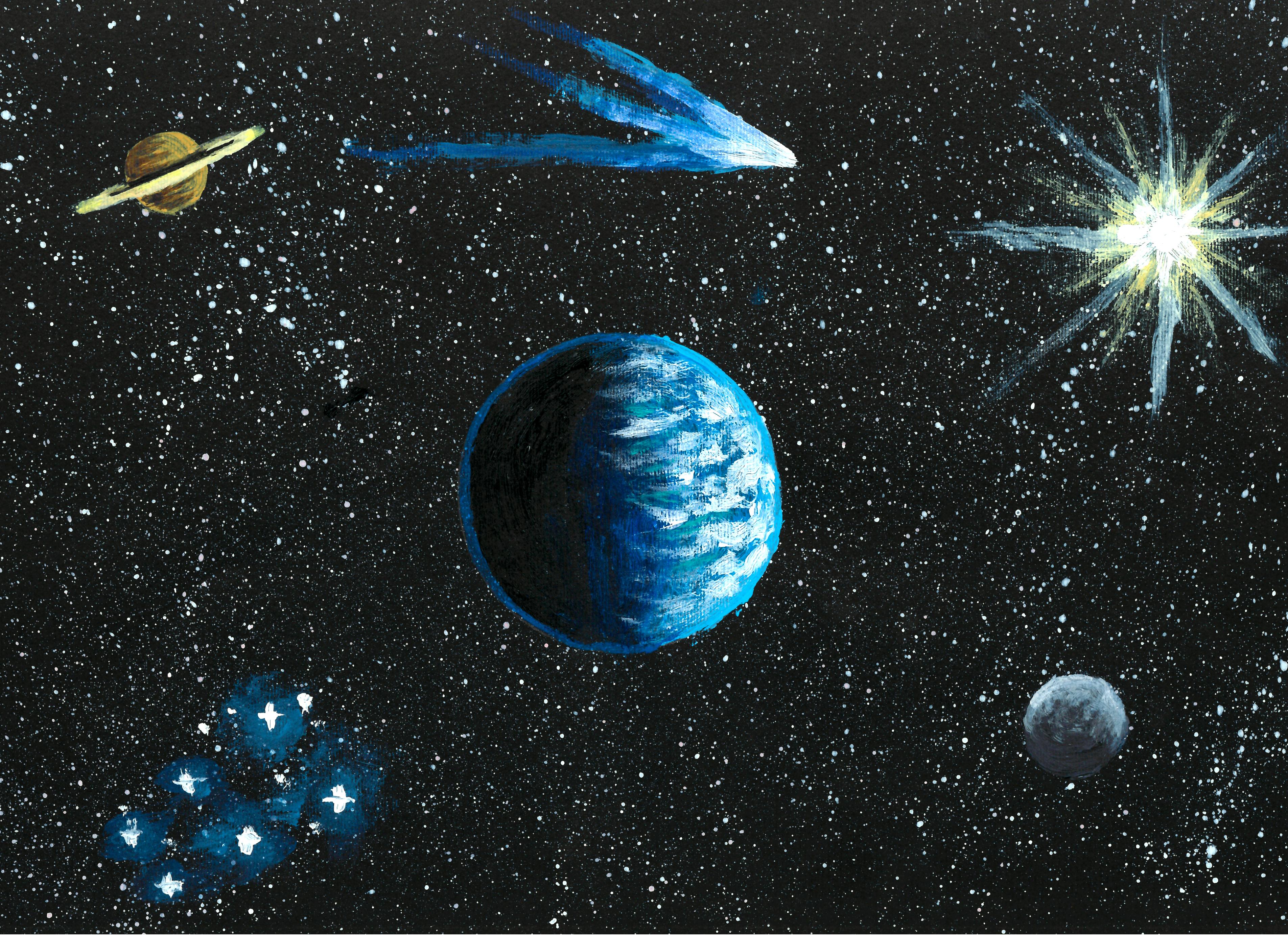 """""""Meraviglie dell'Universo"""", di Samuele (8 anni)"""