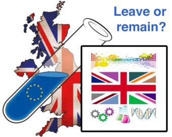 I loghi di due delle campagne, organizzate da scienziati, pro e contro l'uscita del Regno Unito dall'Unione europea