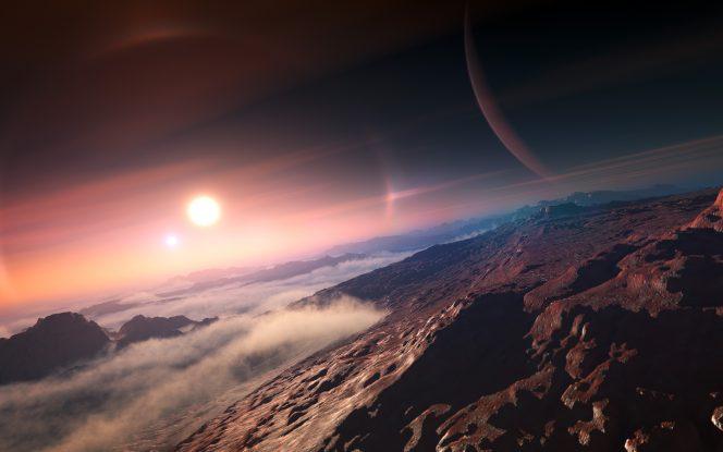 La superficie di un pianeta extrasolare, nel rendering di un artista. Crediti: IAU / L. Calçada.