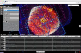 Una schermata dell'interfaccia ESASky