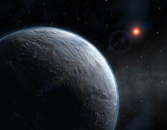 Rappresentazione artistica di un pianeta extrasolare di tipo terrestre dotato di atmosfera. Crediti: ESO
