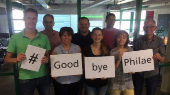 Alcuni membri del team di Philae presso il Centro di controllo del lander del DLR, a Colonia. Crediti: DLR