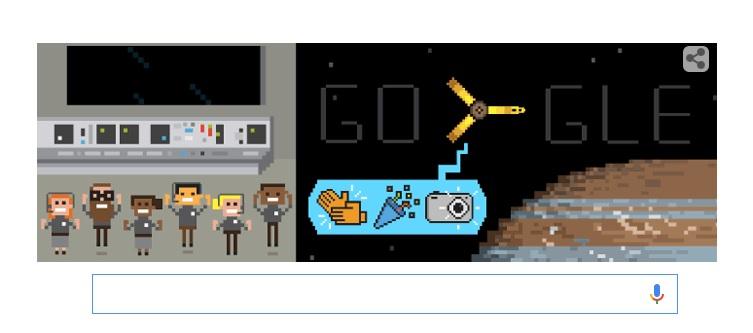 Il doodle di Google dedicato a Juno