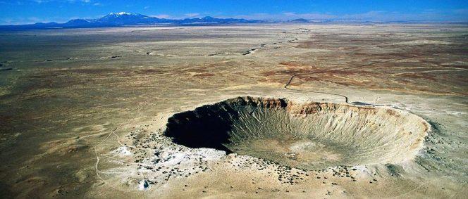 Il Meteor Crater, in Arizona (USA).