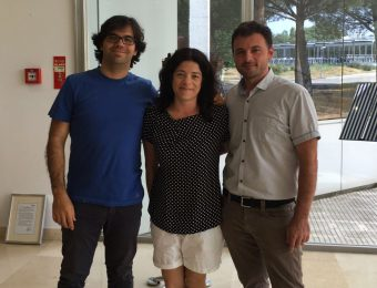 Alcuni volti di ESASky. Da sinistra: Bruno Merin, responsabile scientifico del progetto, Maria Henar Sarmiento, ingegnere del software, e Fabrizio Giordano, responsabile tecnico del progetto