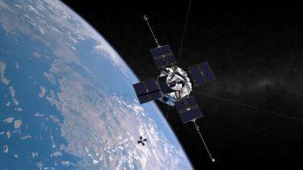 Rappresentazione artistica delle due sonde gemelle della missione Van Allen Probe. Crediti: JHUAPL