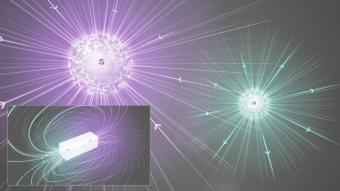 """È possibile che esistano """"cariche magnetiche"""" isolate, così come esistono quelle elettriche positive e negative, fatte solo di """"nord"""" o """"sud""""? Sono queste ipotetiche particelle, i monopoli magnetici, che MoEDAL sta cercando d'intercettare. Crediti: Dominguez, Daniel /CERN"""