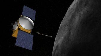 La sonda OSIRIS-REx della NASA in una visione d'artista. Crediti: NASA