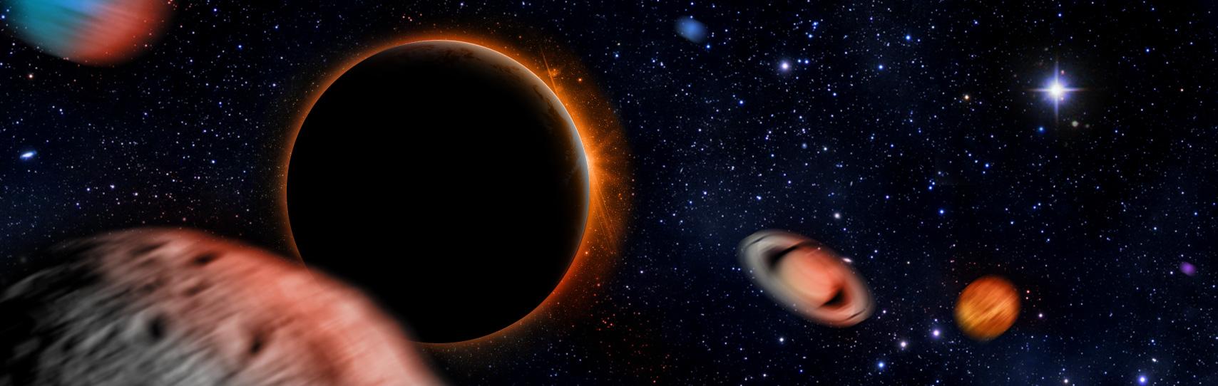 I pianeti del Sistema Solare potrebbero essere scagliati nello spazio interstellare a causa del Pianeta 9. Crediti: Università di Warwick