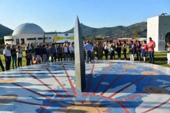 Uno degli orologi solari nella struttura didattica del Parco Astronomico delle Madonie. Crediti: Castebuono Live
