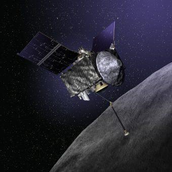 Rendering della sonda OSIRIS-REx. Crediti: NASA.
