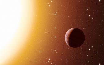 Rappresentazione artistica di un esopianeta del tipo gioviano caldo nell'ammasso stellare M67. Crediti: ESO/L. Calçada