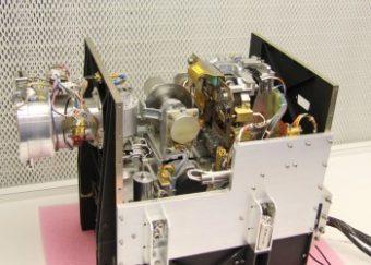 Lo strumento MIDAS, Micro-Imaging Dust Analysis System, visto all'interno. Crediti: ESA