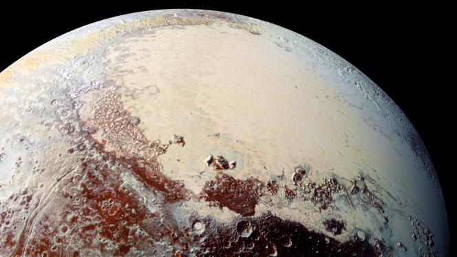 Il ghiacciaio su Plutone