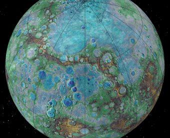 Mercurio, un pianeta in via di restringimento. Crediti: NASA/JHUAPL/Carnegie Institution of Washington/USGS/Arizona State University